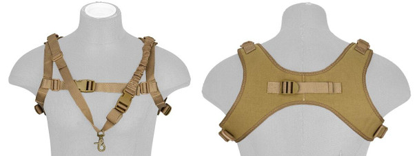 WoSport Tactical One-Point Sling Vest, Tan