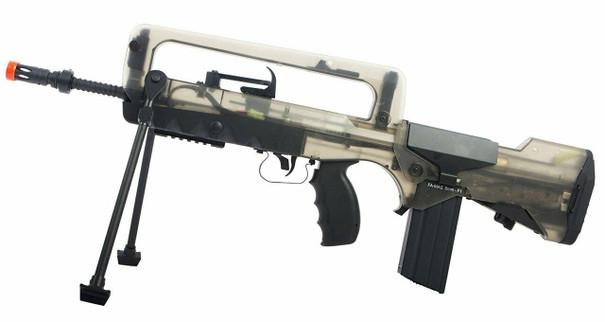Cybergun FAMAS AEG Airsoft Rifle, Black/Clear
