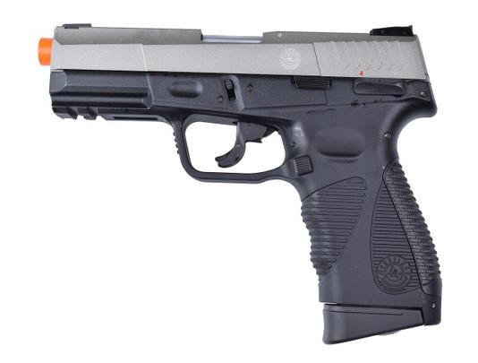 Taurus 24/7 G2 Metal Blowback Airsoft Pistol, Silver/Black