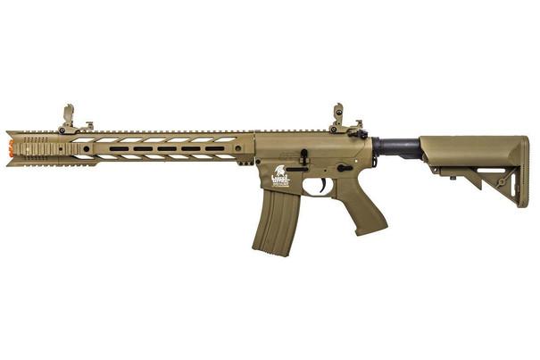 Lancer Tactical Interceptor SPR Airsoft Rifle, Gen 2, Dark Earth