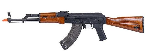 Lancer Tactical Metal AK-47 AEG w/Blowback and Real Wood