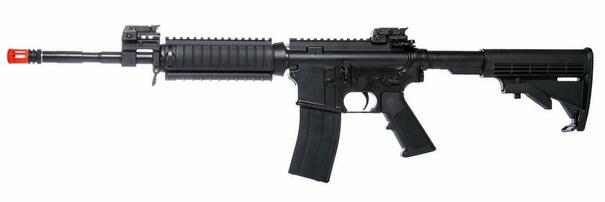 KJW M4 RIS Gas Blowback Rifle, Black