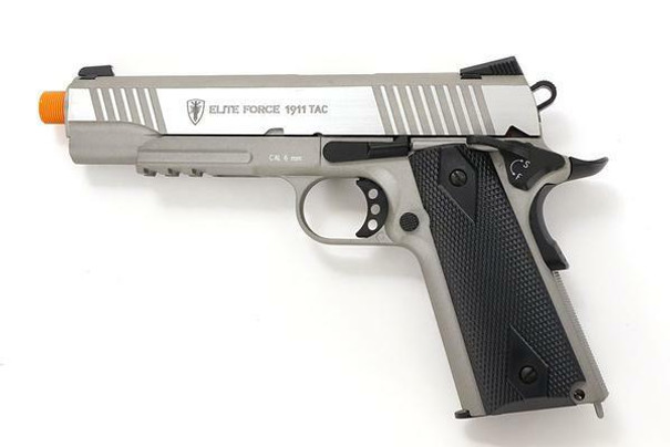 Elite Force 1911 Tac Co2 Blowback Airsoft Pistol, Stainless