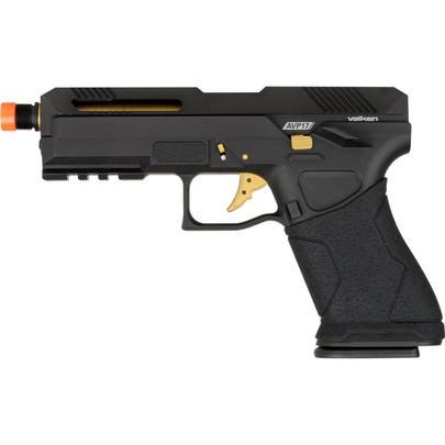 Valken AVP17 Green Gas Blowback Airsoft Pistol, Black