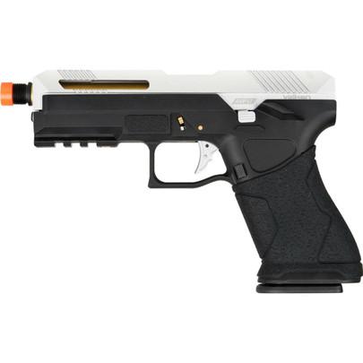 Valken APV17 Green Gas Blowback Airsoft Pistol, Black/Silver