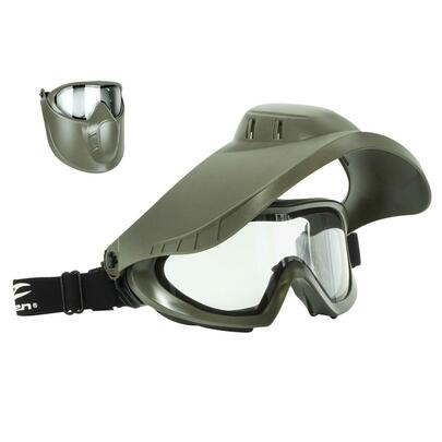 Valken VSM Thermal Goggles w/ Face Shield, OD Green, Gray Lens