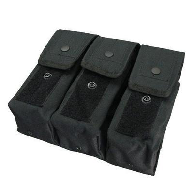 Condor MOLLE Triple AR/AK Mag Pouch, Black
