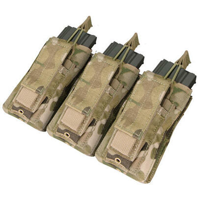 Condor MOLLE Triple Kangaroo Mag Pouch, Pistol and M4/M16 Magazine Pouch, Multicam