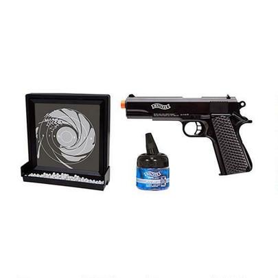Walther Target Pack 1911 Spring Pistol and Target, Black