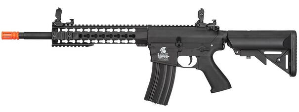 Lancer Tactical M4 Keymod EVO Airsoft Rifle, Black - CQB FPS Variant
