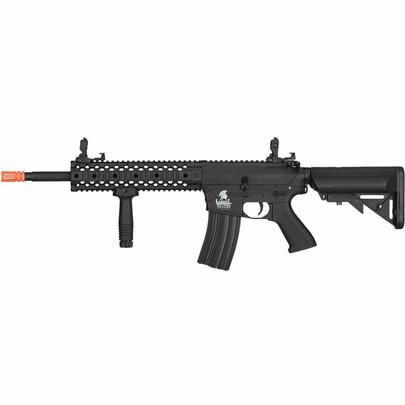 Lancer Tactical M4 EVO RIS Gen 2 Low FPS Battle Rifle Airsoft AEG, Black