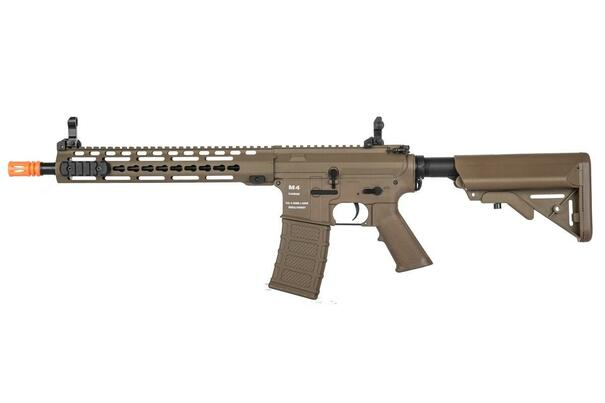 Classic Army KM12 Nylon Fiber Keymod AEG Airsoft Rifle w/ ECS, Dark Earth