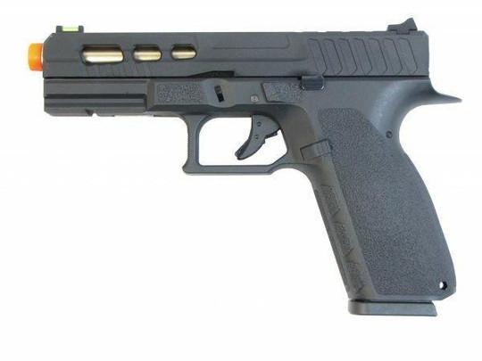 KJW KP13C Custom Hi-Capa Gas Blowback Airsoft Pistol, Black