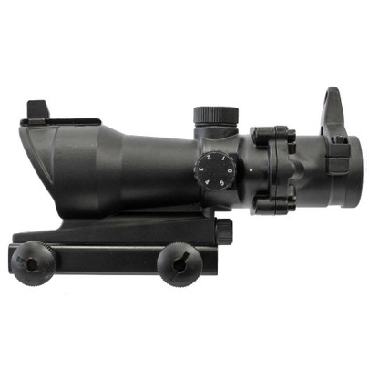 ACOG Style 1x32 Red/Green Dot Sight w/ Integrated Weaver Rail and Iron Sights