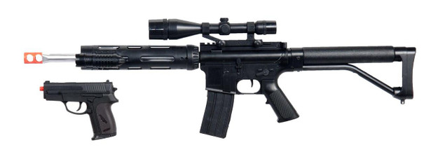 P1136 Spring Airsoft Rifle and Pistol Combo