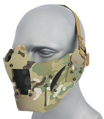 Mesh and Polymer Retro Mecha Lower Face Protection System, Modern Camo