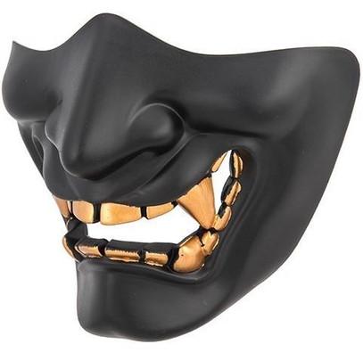 Yokai Ogre Padded Polymer Lower Face Mask, Black