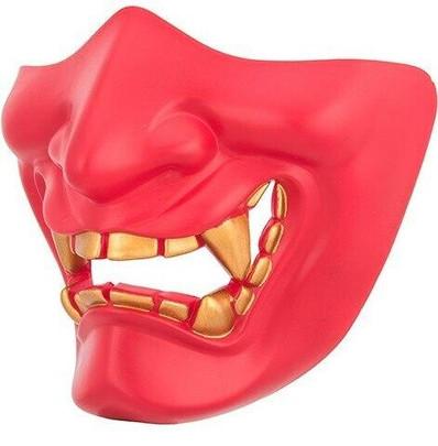 Yokai Ogre Padded Polymer Lower Face Mask, Red
