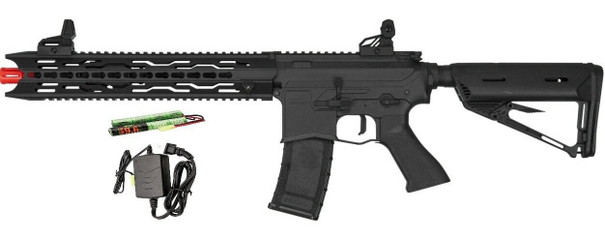 Valken ASL Series AEG Airsoft Rifle TRG, Black - Included Battery and Charger