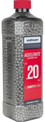 Valken Accelerate 0.20g BBs, 5000 Ct, White