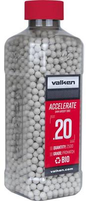 Valken Accelerate 0.20g BBs, 2500 CT, White, Bio