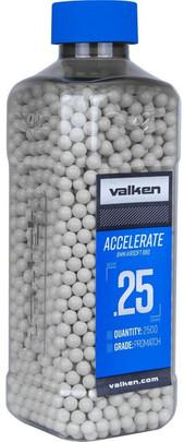 Valken Accelerate 0.25g BBs, 2500 CT, White