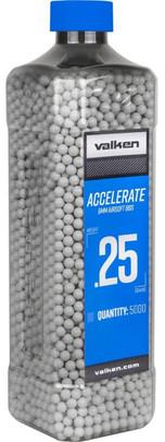 Valken Accelerate 0.25g BBs, 5000 CT, White