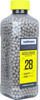 Valken Accelerate 0.28g BBs, 2500 CT, White