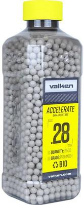 Valken Accelerate 0.28g BBs, 2500 CT, White, Bio