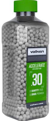 Valken Accelerate 0.30g BBs, 2500 CT, White