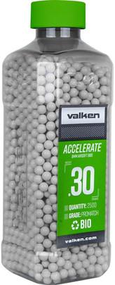 Valken Accelerate 0.30g BBs, 2500 CT, White, Bio