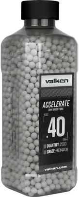 Valken Accelerate 0.40g BBs, 2500 CT, White