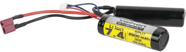 Valken Energy Li-Ion 7.4v 2500mAh High Output Split Battery, Deans Plug