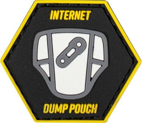 Valken Internet Dump Pouch 1.5 x 1.3 Morale Patch, Black