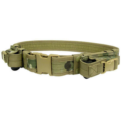 Condor Tactical Belt with Dual Pistol Mag Pouches, Multicam