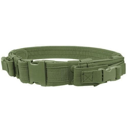Condor Tactical Belt with Dual Pistol Mag Pouches, OD Green