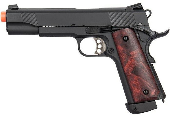 Double Bell Co2 M1911A1 Blowback Airsoft Pistol, High Velocity, Black