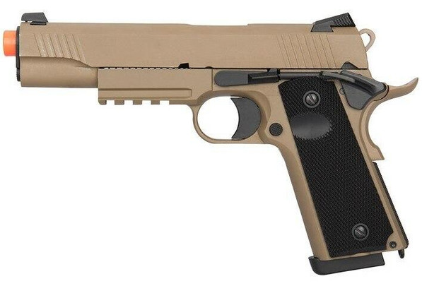 Double Bell CQB Tactical Gas Blowback Airsoft Pistol, Tan