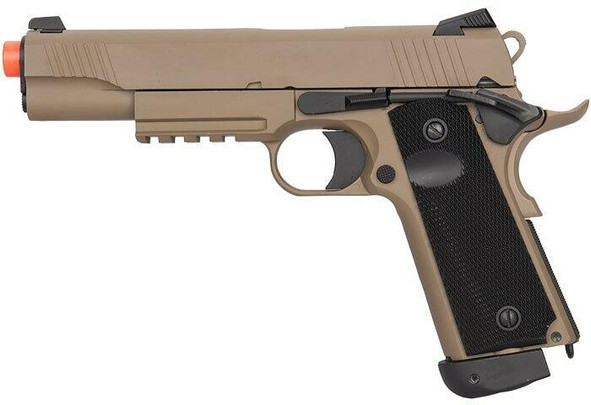 Double Bell CQB Tactical Co2 Blowback Airsoft Pistol, Tan