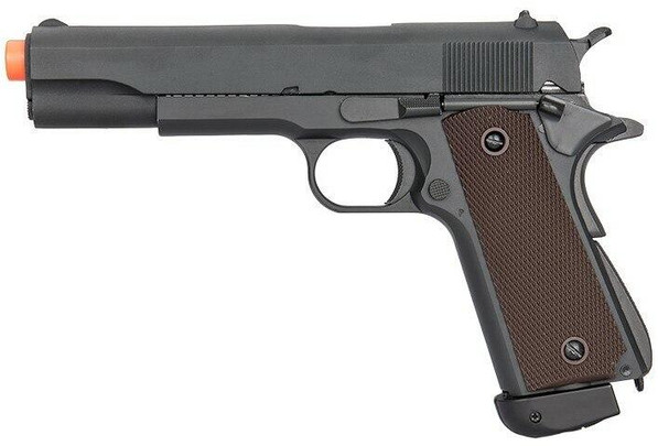 Double Bell Co2 M1911 Blowback Airsoft Pistol, 400 FPS, Black