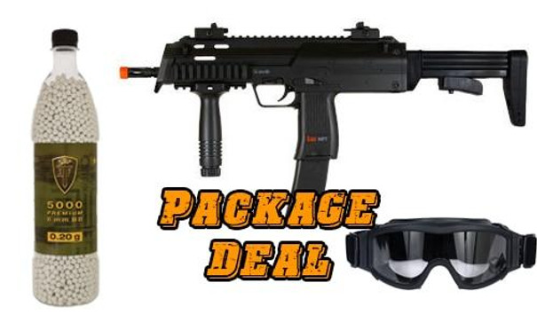 HandK MP7 Bundle - Includes 5000 BBs and Eye Protection