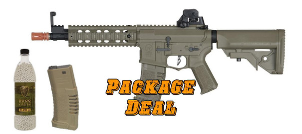 ARES Amoeba AM-008 AEG Bundle - Includes Extra Mag and 5000 BBs
