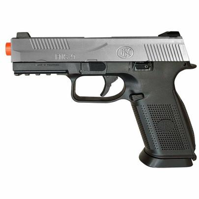 FN Herstal FNS-9 Spring Airsoft Pistol, Silver/Black
