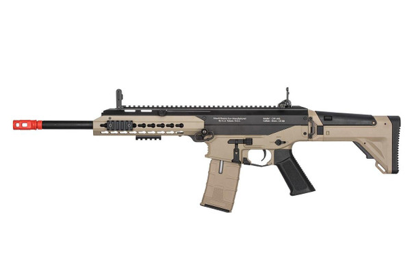 ICS ProLine CXP-APE Long Barrel Electric Blowback AEG Airsoft Rifle, Two Tone