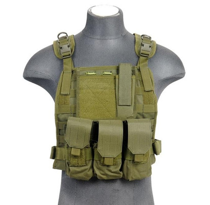 Lancer Tactical Nylon MOLLE Plate Carrier, OD Green