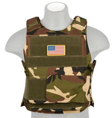 Lancer Tactical Nylon Body Armor Vest, Woodland