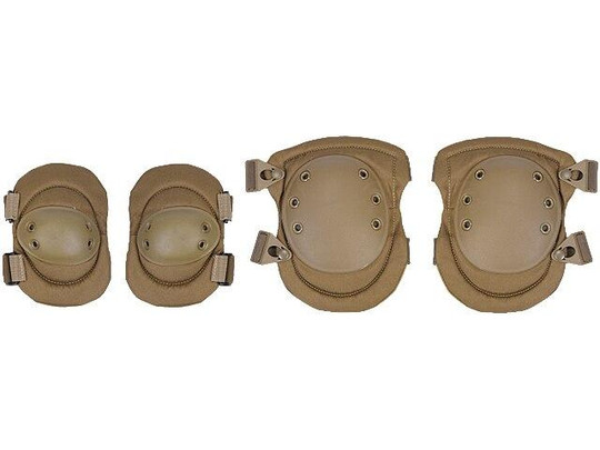 Lancer Tactical Nylon Elbow and Knee Pads, Tan