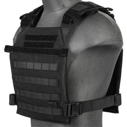 Lancer Tactical Nylon Lightweight Plate Carrier, Black