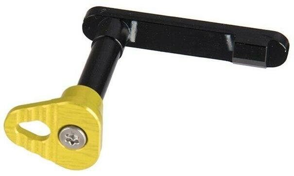 Retro Arms Anodized Aluminum Magazine Catch for M4/M16, Yellow, Type B