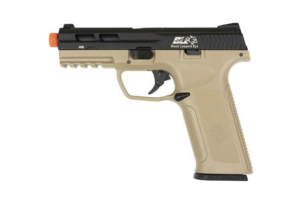 ICS BLE-XAE Gas Blowback Airsoft Pistol, Black / Tan
